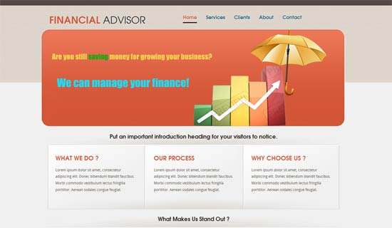 Your plan should capture how your current and future risks are covered to protect you from econo. 80 Best Financial Website Templates Free Premium Freshdesignweb