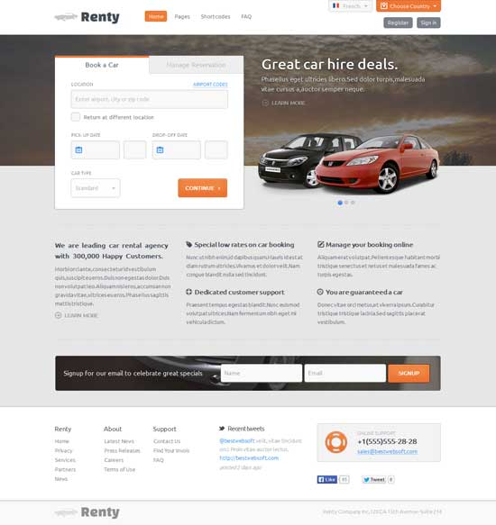 With taxi, you'll put your designers in full control of the brand experience—and make building great email a breeze for marketers. 40 Best Car Rental Taxi Website Templates Free Premium Freshdesignweb