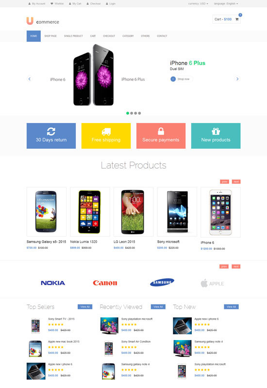 A trendy, modern and stylish option to promote and market your products, this template is one that stands out. Free Ecommerce Website Templates 2021 Freshdesignweb