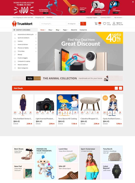 It features 4 home pages and uses html5, css3 code. Free Ecommerce Website Templates 2021 Freshdesignweb