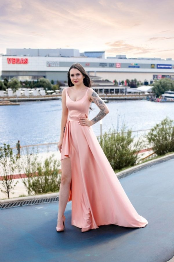 Вечерние платья в прокат Москва Jovani Silver Gold Evening ...