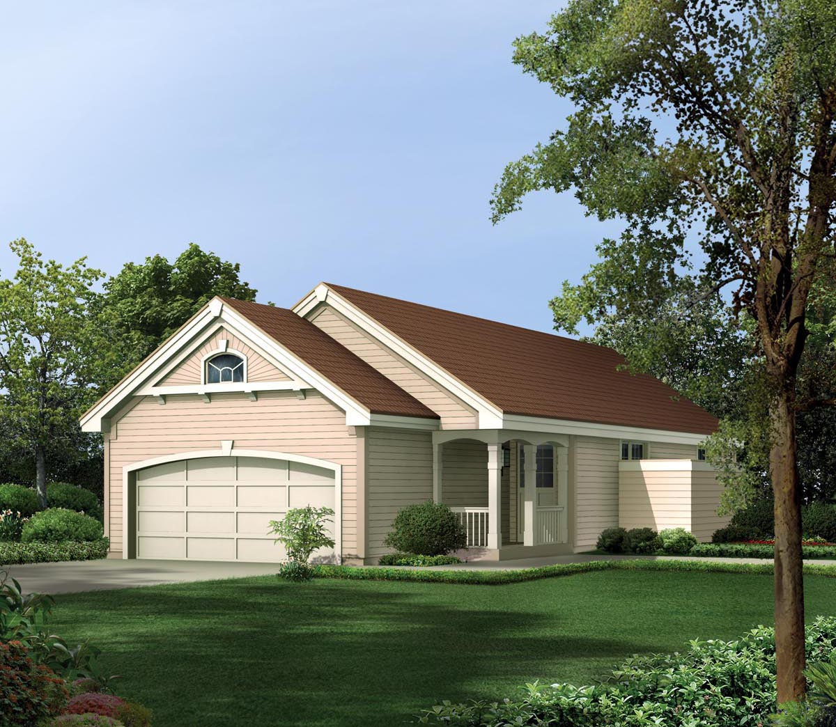 narrow lot house plans with garage in front