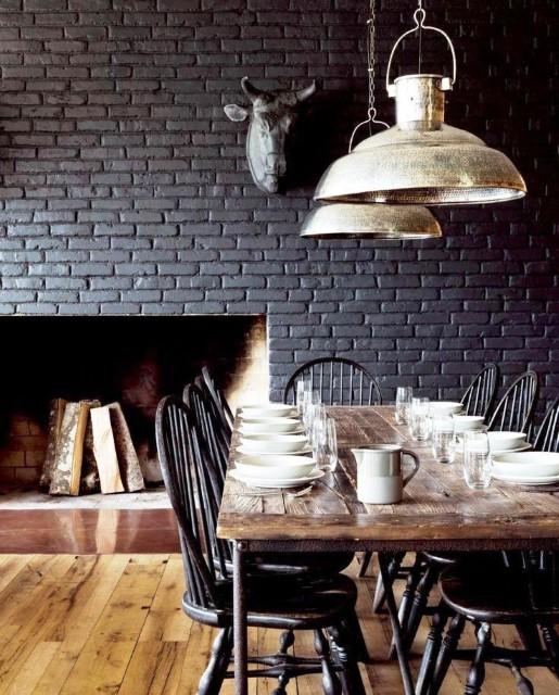 Black Simple Modern Brick Boundary Wall Designs
