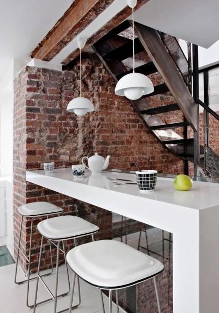 Dining Table bar Area Modern Brick Boundary Wall Designs