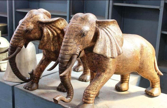 Elephant Statues Facing Door Ideas