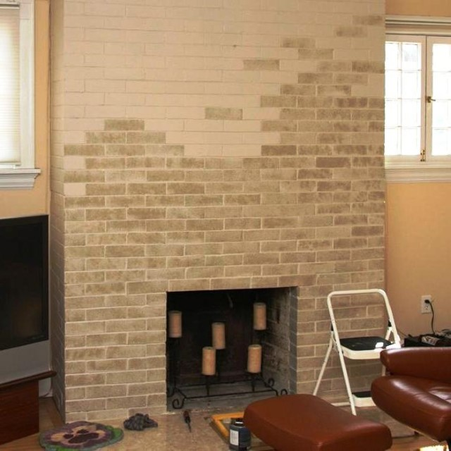 Modern Brick Boundary Wall Designs For Fireplaces