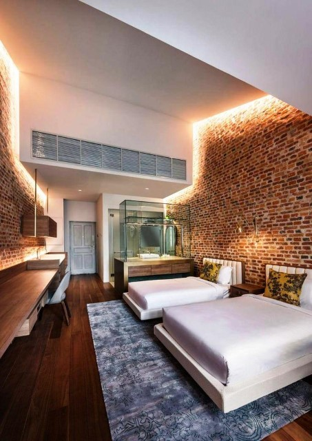 Modern Brick Boundary Wall Designs For bedroom Area