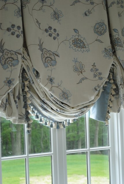 Balloon Curtains for Living Room on the windows