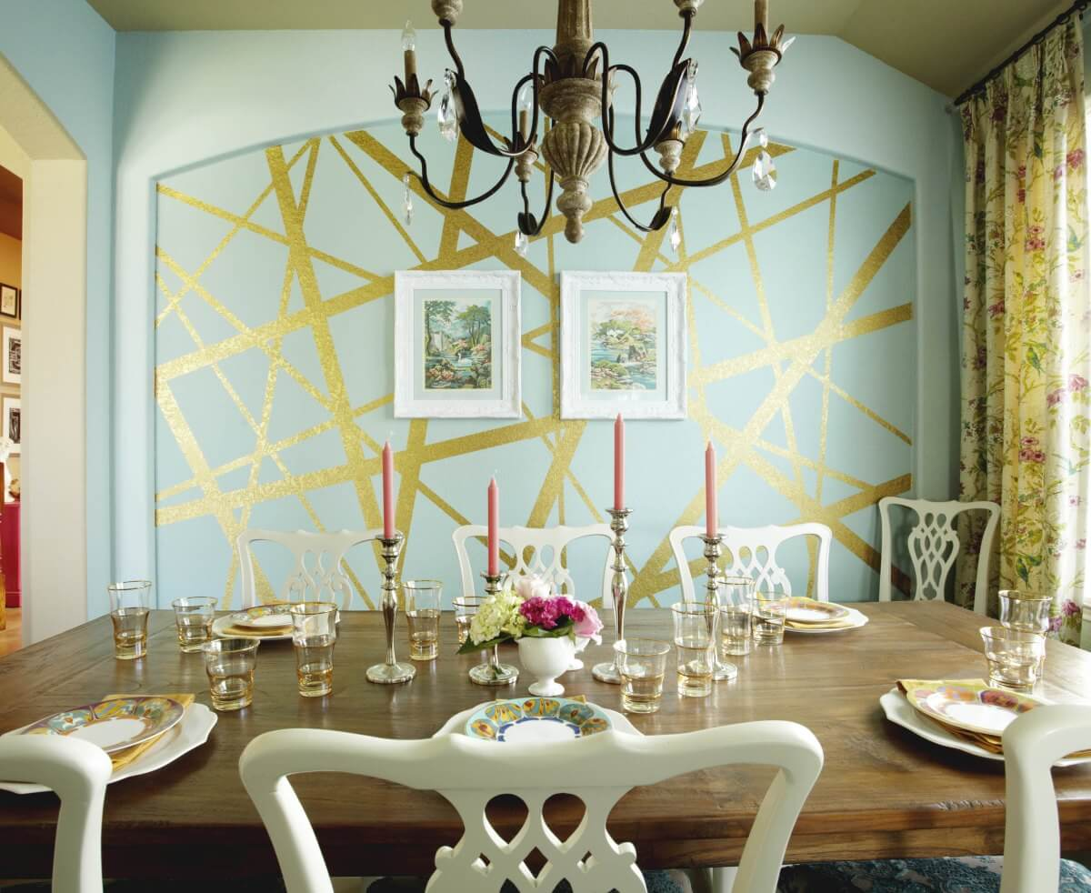 Gold Elegant Luxury Design Using Painters Tape