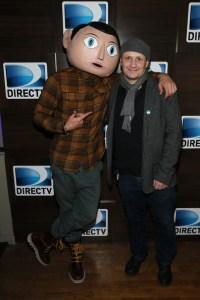Filmmaker Lenny Abrahamson and Frank attend the FRANK Premiere after party hosted by DIRECTV.