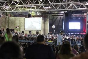20,000 people waiting for comics at Oddball Comedy Fest in Dallas, TX. Photo by Preston Barta.