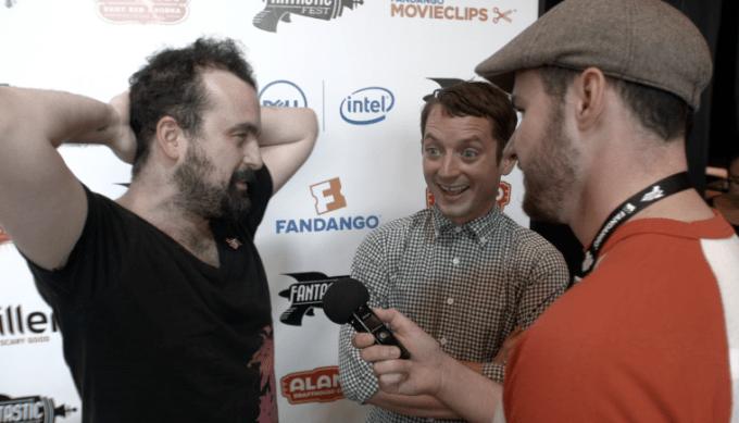 FreshFiction.tv interviewing OPEN WINDOWS director Nacho Vigalondo and Elijah Wood.