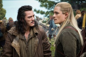 Luke Evans and Orlando Bloom are the badasses that make up THE BATTLE OF THE FIVE ARMIES.