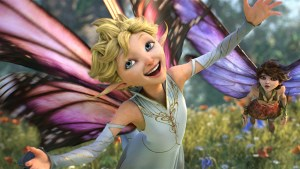 Dawn (Meredith Anne Bull) is crazy for love, while her sister Marianne (Evan Rachel Wood) takes a decidedly different stance in STRANGE MAGIC, a madcap fairy tale told through popular songs from the past six decades. Photo courtesy of Touchstone Pictures and Lucasfilm Ltd.