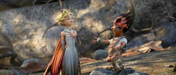 Meredith Anne Bull as Dawn and Elijah Kelley as Sunny in STRANGE MAGIC.