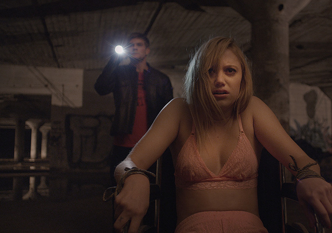 Jake Weary and Maika Monroe star in IT FOLLOWS.