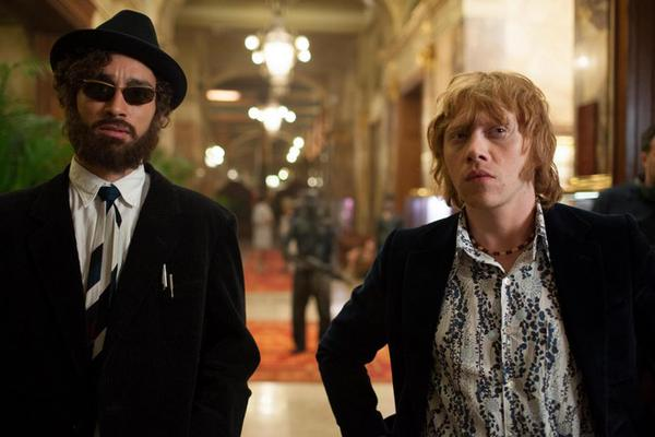 Robert Sheehan and Rupert Grint star in MOONWALKERS. Photo courtesy of Mars Distribution.