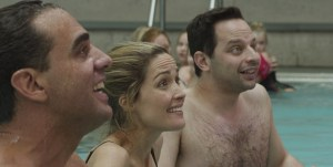 From left to right: Bobby Cannavale, Rose Byrne and Nick Kroll starring in ADULT BEGINNERS