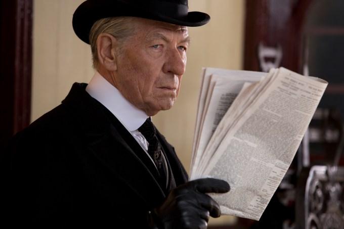 Ian McKellen is Sherlock Holmes in MR. HOLMES. Photo courtesy of Roadside Attractions / Giles Keyte.