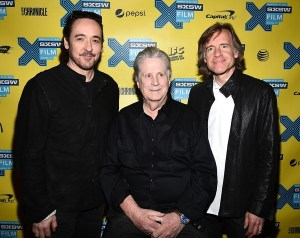 John Cusack, Brian Wilson and director Bill Pohlad at the SXSW world premiere of LOVE & MERCY. Photo courtesy of Getty Images.