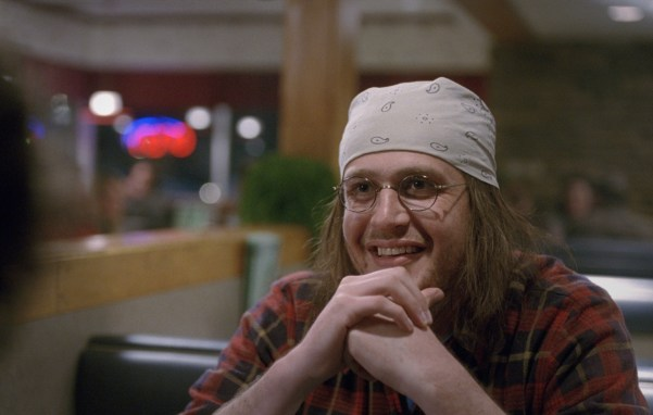 Jason Segel as David Foster Wallace in THE END OF THE TOUR. Photo courtesy of A24.