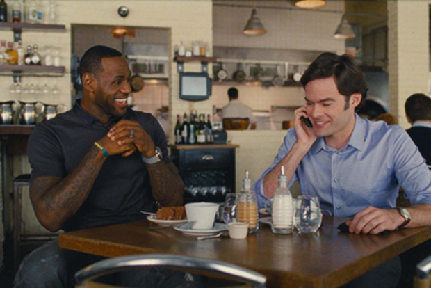 Lebron James and Bill Hader in TRAINWRECK courtesy of Universal Pictures