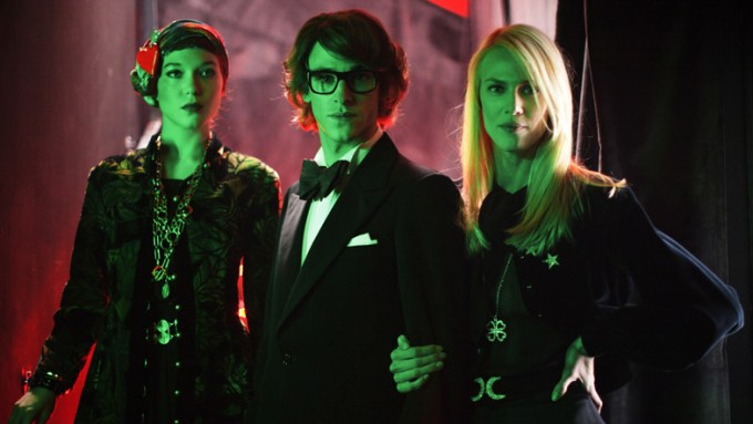 Lea Seydoux, Gaspard Ulliel and Aymeline Valade in SAINT LAURENT. Courtesy of Sony Pictures Classics.