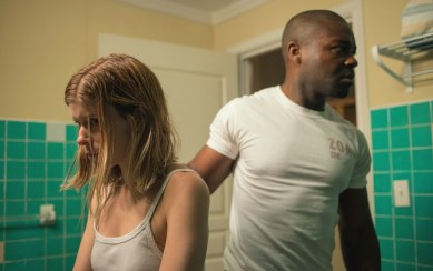 Mara and Oyelowo during an emotionally tense moment in CAPTIVE. Photo Courtesy of Paramount Pictures.