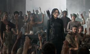 Lawrence as the beloved Katniss in MOCKINGJAY - PT. 1. Photo courtesy of Lionsgate.