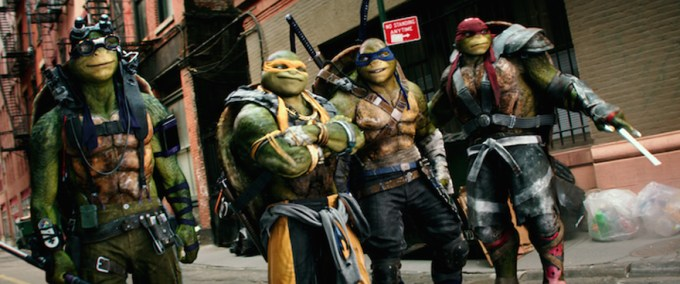 The heroes in a half shell are back in TMNT 2. Courtesy of Paramount Pictures.