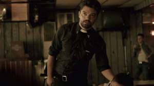 Dominic Cooper is Jesse Custer in PREACHER. Photo courtesy of AMC.