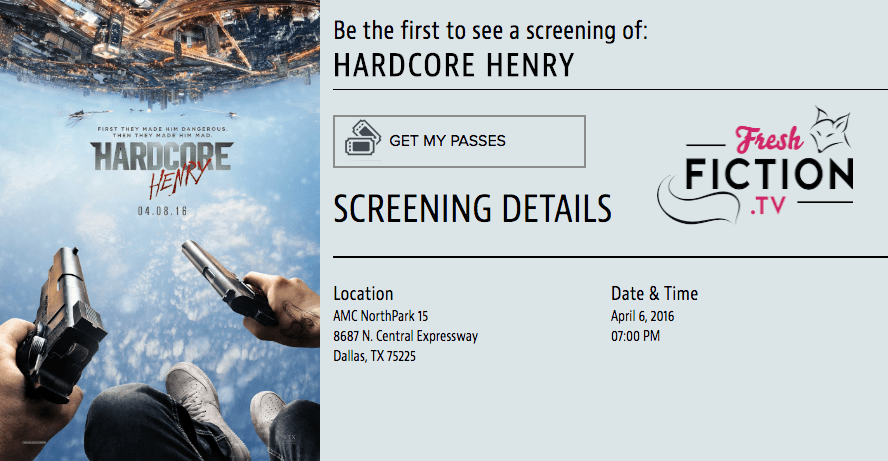Dallas: Get Passes For An Early Screening of 'HARDCORE HENRY', the POV splatterfest starring Sharlto Copley