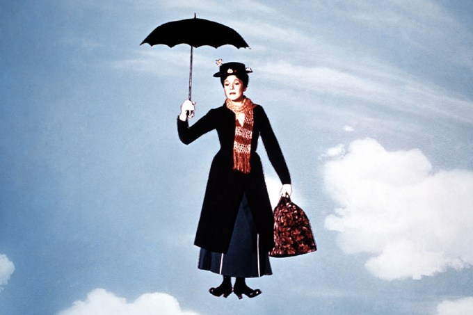 MARY POPPINS, Julie Andrews, 1964. Courtesy of Disney.