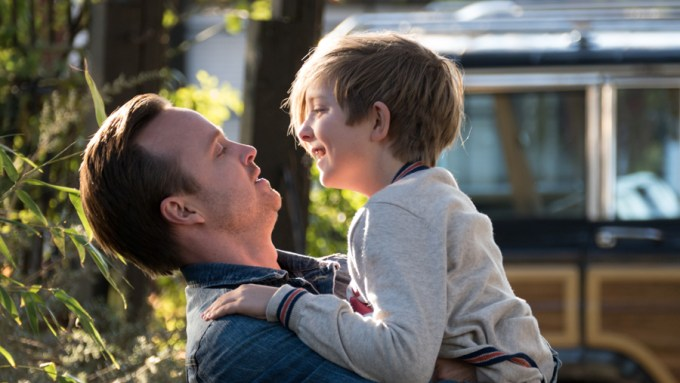 Aaron Paul and Aiden Longworth in THE 9TH LIFE OF LOUIS DRAX. Courtesy of Summit Premiere.