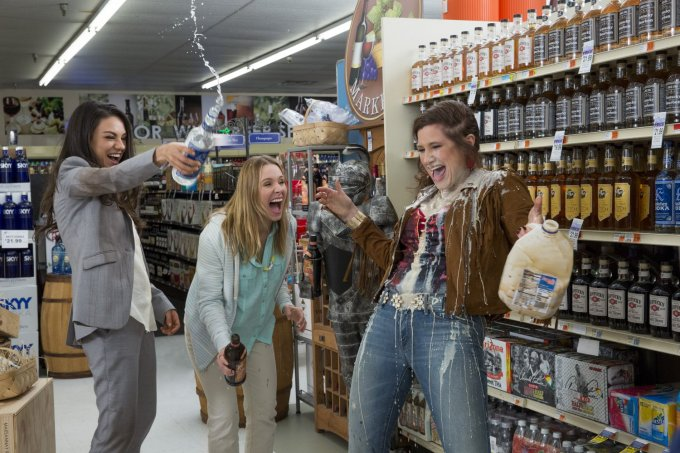 Mila Kunis, Kristen Bell and Kathryn Hahn in BAD MOMS. Courtesy of STX Entertainment.