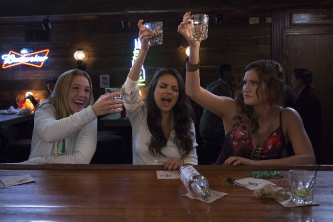 Kristen Bell, Mila Kunis, and Kathryn Hahn in BAD MOMS. Courtesy of STX Entertainment.