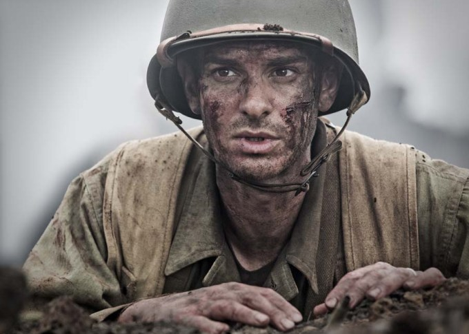 Andrew Garfield stars as 'Desomnd Doss' in HACKSAW RIDGE. Courtesy of Lionsgate.