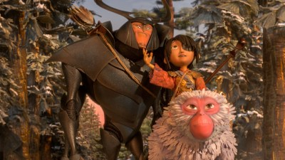 Matthew McConaughey, Art Parkinson and Charlize Theron voiced the characters in KUBO. Photo courtesy of Focus Features.