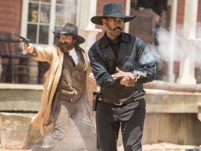 Denzel Washington leads all-star cast in THE MAGNIFICENT SEVEN. Courtesy of  Columbia Pictures.