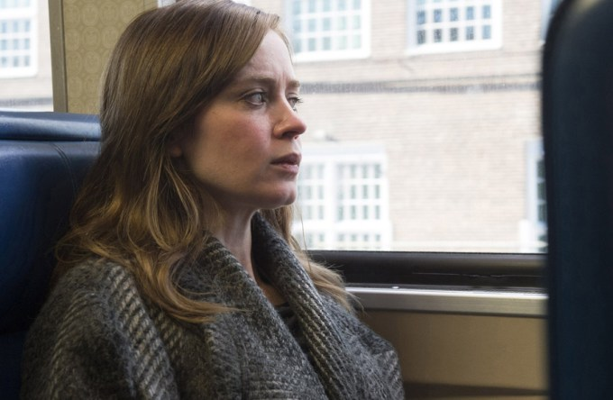 Emily Blunt is THE GIRL ON THE TRAIN. Courtesy of DreamWorks Pictures.