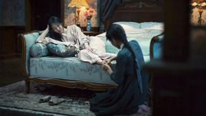 Lady Hideko (Min-hee Kim) and Sook-hee (Kim Tae-ri) in THE HANDMAIDEN. Courtesy of Magnolia Pictures  and Amazon Studios.