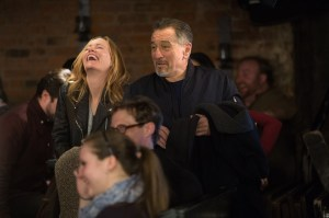 Leslie Mann and Robert De Niro in THE COMEDIAN. Courtesy of Sony Pictures Classics.