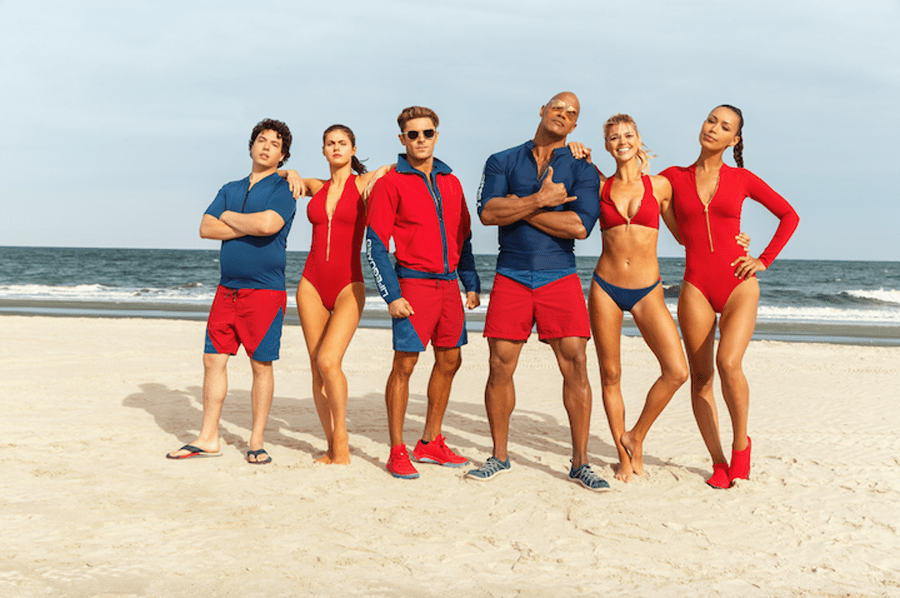 More like Bae-watch! The Rock & Zac Efron protect freedom in 'BAYWATCH' #SuperBowl ad