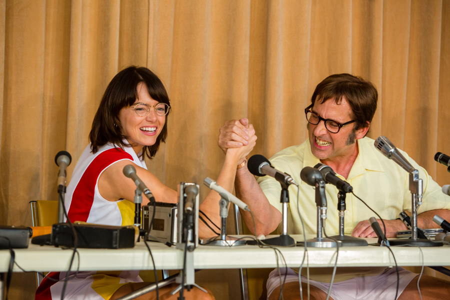 Emma Stone & Steve Carell rally in 'BATTLE OF THE SEXES'