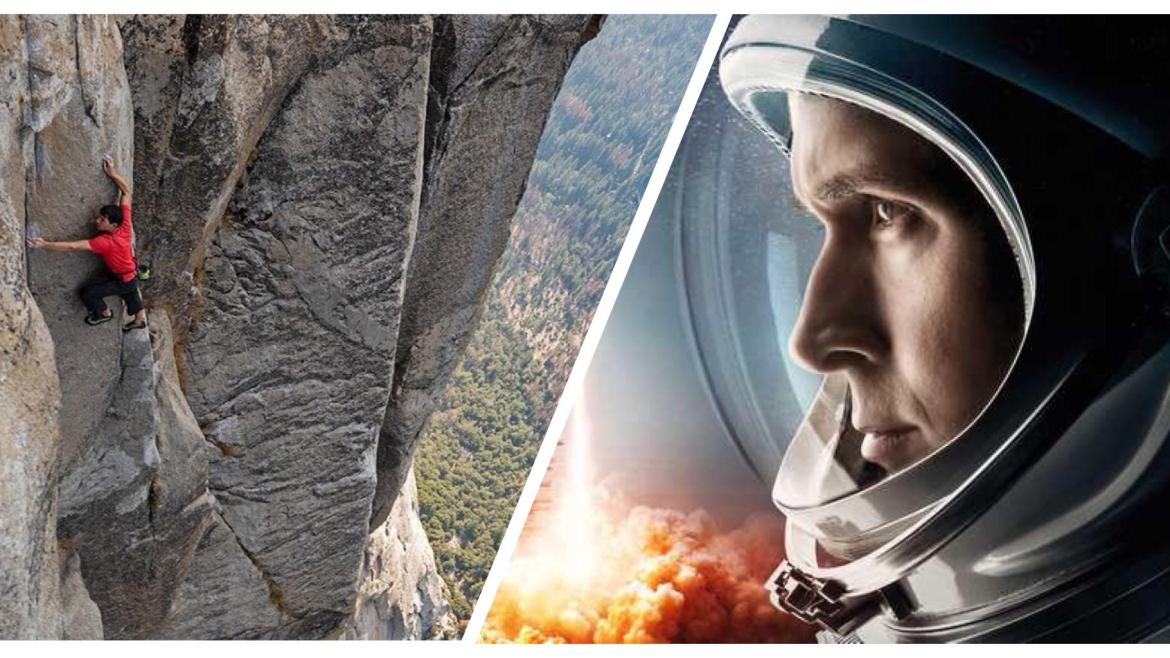 Critic's Notebook: 'FREE SOLO' and 'FIRST MAN' show a monumental test of the human spirit