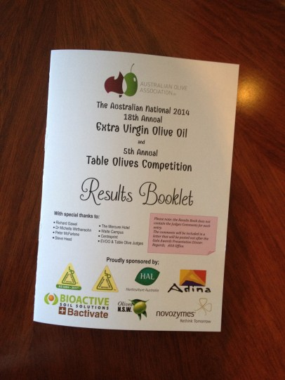 australian olive association 2014 results extra virgin olive oil