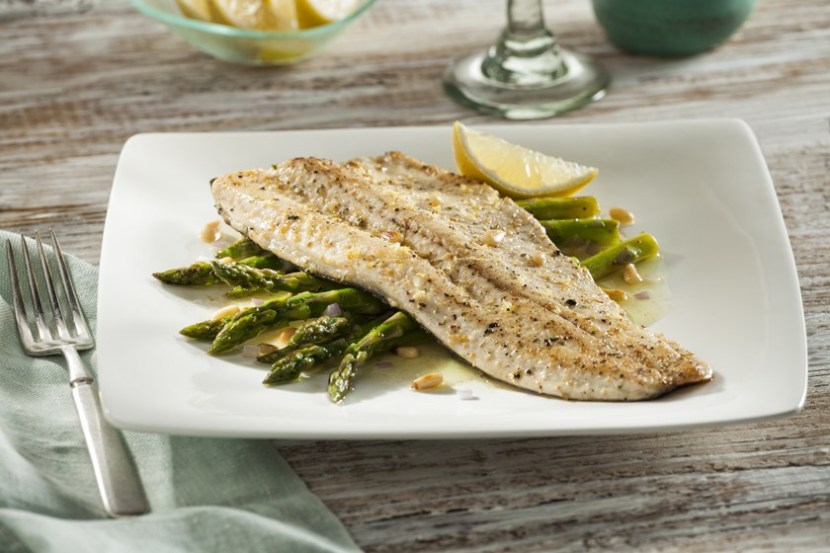 Pan-Seared Trout with Roasted Asparagus and Citrus Dijon Vinaigrette