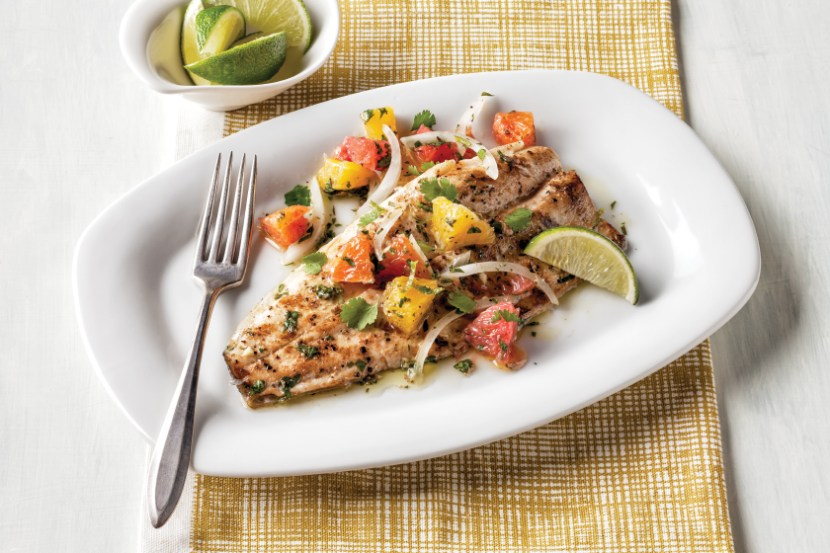 Rainbow Trout With Citrus Salsa