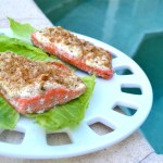Sweet and Spicy Dijon Encrusted Salmon