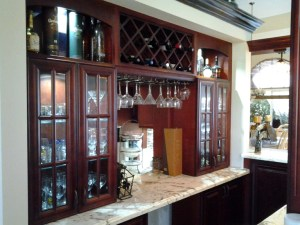 fresh floor kitchen and baths - south florida home redesign - bar redesign